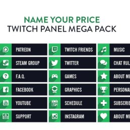Twitch Panels Mega Pack