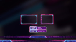 Retrowave Stream Overlay for Twitch