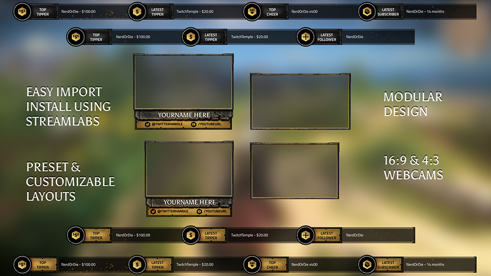 Twitch Overlay Templates and Free Downloads - Nerd or Die