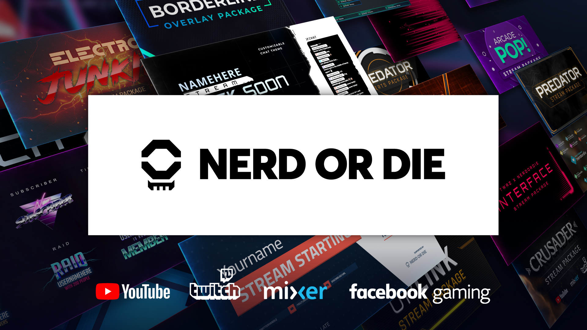 Nerd or Die - Twitch Overlays, Alerts, and Stream Designs